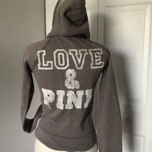 PINK VS BROWN HOODIE